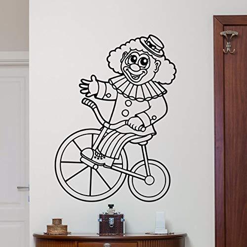 yaonuli Muurstickers verwijderbare circus clown muur stickers kinderkamer slaapkamer decoratie cartoon stijl muurschildering 44x61cm