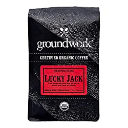 Groundwork Organic Whole Bean Medium Roast Coffee, Lucky Jack, 12 oz Bag