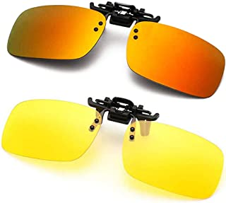 Polarized Clip-on Sunglasses Anti-Glare Driving Glasses for Prescription Glasses