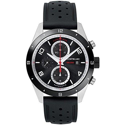 Montblanc TimeWalker Chronograph Automatic - Reloj (Reloj de pulsera, Masculino, Cerámico, Acero inoxidable, Negro, Acero inoxidable, Caucho, Negro)