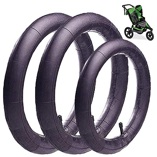 (3-Pack)16'' x 1.75/2.15 Back and 12.5'' x 1.75/2.15 Front Wheel Replacement Inner Tubes for BoB Stroller Tire Tube Revolution SE/Pro/Flex/SU/Ironman - Made from BPA/Latex Free Butyl Rubber