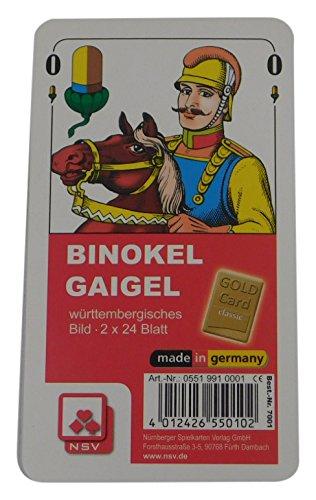 05519910001 - Nürnberger Spielkarten - Binokel/Gaigel Classic, württembergisches Bild im Klarsichtetui
