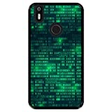 Hapdey silikon Hülle für [ Bq Aquaris X - X Pro ] Design [ Digitale Matrix ] Schwarze Flexibles TPU