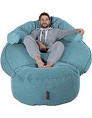 Lounge Pug®, Puff Gigante 'Mega-Mamut', Lana de Interalli - Agua