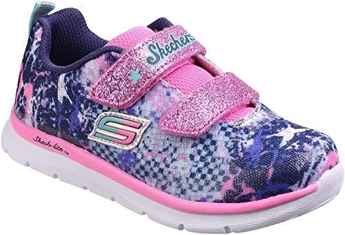 Skechers, Mädchen Sneaker, Lauflernschuhe, 82058N - NVMT (22 EU, blau - gemustert)