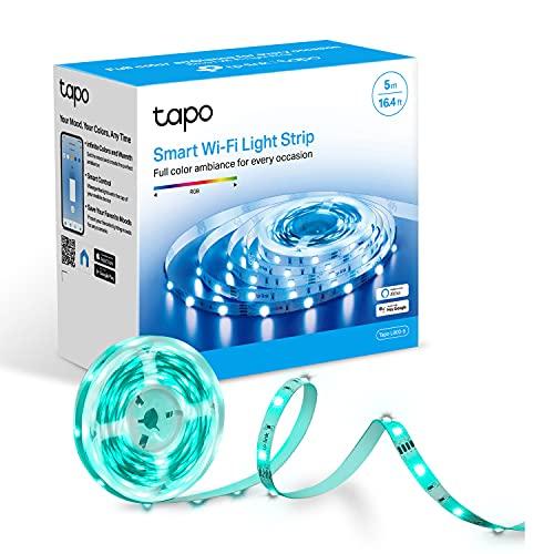 TP-Link Tapo Smart LED-Lichtleiste, 5 m, WiFi-App-Steuerung, RGB Multicolor LED-Streifen, funktioniert mit Alexa (Echo- und Echo Dot) & Google Home, geeignet für TV Küche DIY Dekoration (Tapo L900-5)