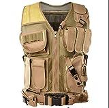 NC Tactical Vest Military Vest Combat Training Vest Ultra-Light Breathable Tactical Vest for Outdoor Sports … (Mud)