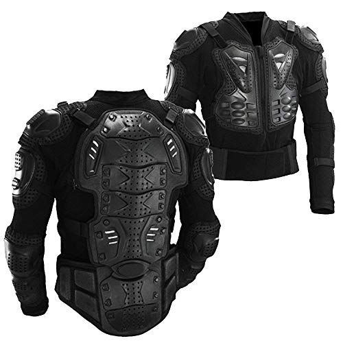 Motorcycle Motorbike Full Body Armor Armour Protective Gear Jacket Pro Street Sport Motocross ATV Guard MTB Racing Shirt Jacket Protector with Chest Back Protection for Men (L)