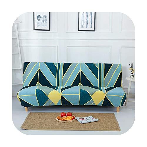 Sofá cama funda de spandex para sala de estar elástico material geométrico impreso elástico funda sofá sin reposabrazos, Color 2, L (185-210CM)