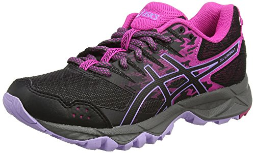 Asics ASICS Damen Gel-Sonoma 3 Trail Running Schuhe, Mehrfarbig (Pink Glow/Black/Lavender), 37.5 EU