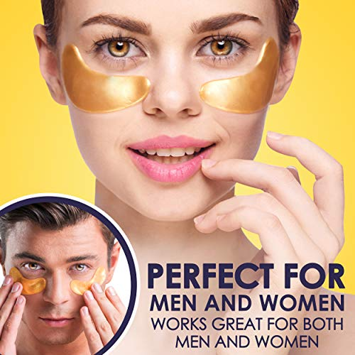 51zHoXgJOaL - Cedlize Under Eye Collagen Patch, 24K GOLD ANTI-AGING MASK, Pads For Puffy Eyes & Bags, Dark Circles and Wrinkles, With Hyaluronic Acid, Hydrogel, Deep Moisturizing Improves Elasticity, 30 PAIRS