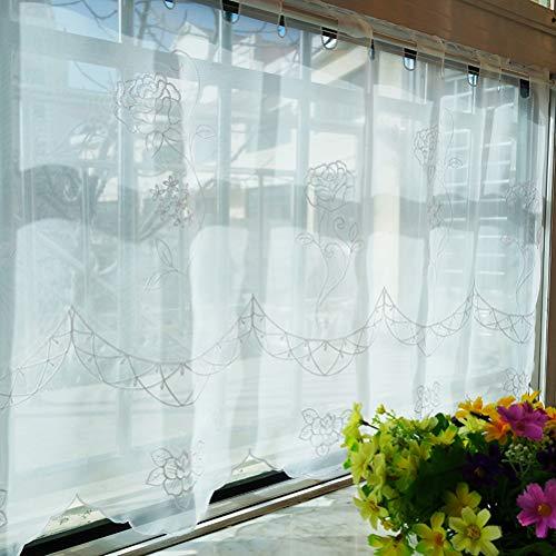 cortinas salon blancas cortas