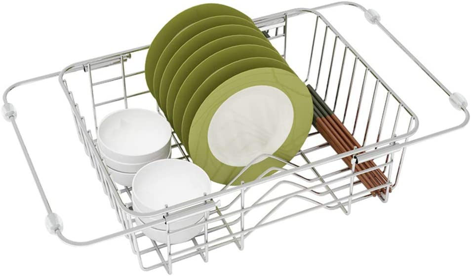 ZHOUZJ Over Sink Max 73% OFF Max 75% OFF Dish Drying Large Drainer Rack Capa 1-Tier