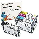 iCartouche Cartucho de Tinta Compatible para Epson 502XL 502 XL Epson Expression Home XP-5100 XP-5105 Workforce WF-2860DWF WF-2865DWF XP5100 XP5105 WF2860 WF2865 DWF WF2860DWF WF2865DWF (2BK 1C 1M 1Y)
