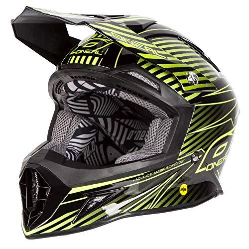 O 'Neal 10 Serie MIPS Carbon Motocross Enduro Mountainbike Helm zwart/geel/zilver 2016