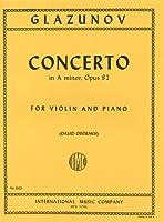 グラズノフ: バイオリン協奏曲 イ短調 Op.82/オイストラフ編/インターナショナル・ミュージック社/ピアノ伴奏付ソロ楽譜