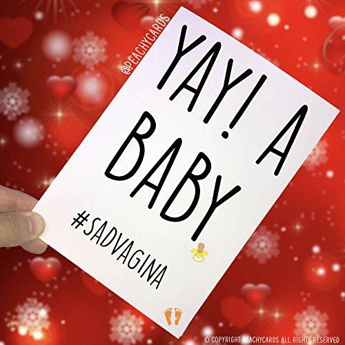 Wenskaart voor pasgeborenen met vagina-motief, voor de nieuwe vader, voor meisjes en jongens, PC167