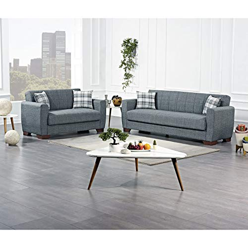 Ottomanson BAR-SB-GY Sofabed, Sofa, Gray