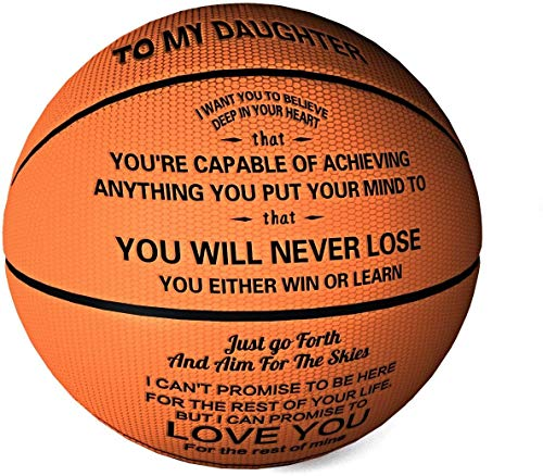 Waful Engraved Basketball Gifts for Daughter - You Will Never Lose...