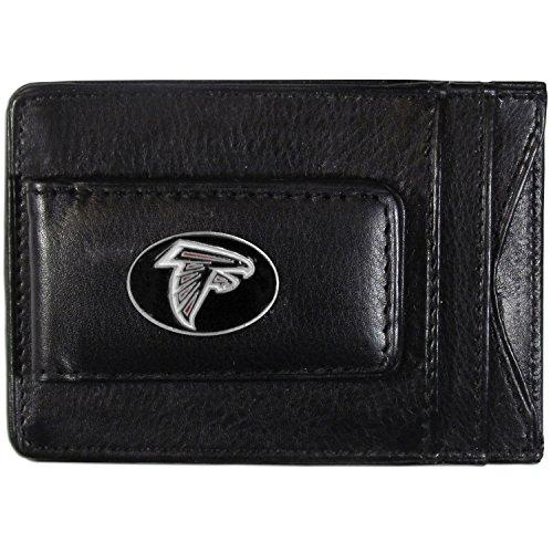 NFL Siskiyou Sports Herren Atlanta Falcons Leder Bargeld & Kartenhalter, Einheitsgröße, Schwarz