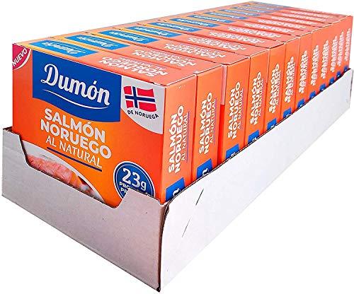 DUMON - NOVITÀ - 12 unità da 160 grammi di salmone norvegese in scatola nel suo succo, disossato e...