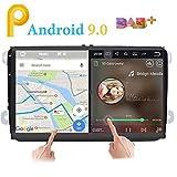 Android 9.0estéreo de coche doble 2DIN 9'pantalla pantalla táctil capacitiva Sistema de navegación GPS para Volkswagen Volksvagen Golf Passat Tiguan Polo Jetta Skoda Seat Quad Core 2G RAM