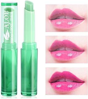 Xiton Pintalabios natural del Aloe Vera Jalea 1 pieza magia cambio de color Crema hidratante bálsamo de labios de larga du...