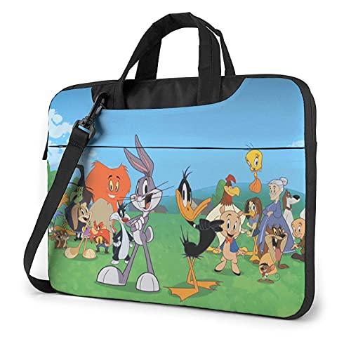 XCNGG Lo-oney T-unes Laptop Bag Tablet Maletín portátil Funda protectora Funda Messenger Bags 14 pulgadas
