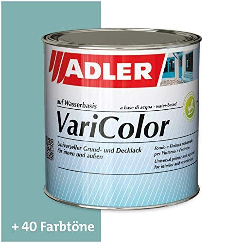 ADLER Varicolor 2in1 Acryl Buntlack für Innen und Außen - 375 ml RAL6034 Pastelltuerkis Türkis - Wetterfester Lack und Grundierung für Holz, Metall & Kunststoff - Seidenmatt