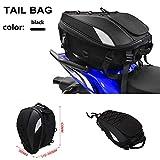 Jinyao - Bolsas de asiento trasero de motocicleta, impermeables, doble uso, también como mochila deportiva y para guardar el casco
