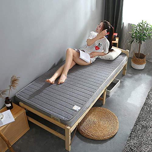 New Z&HA Foldable Futon Tatami Mattress, Sleeping Tatami Floor Mat, Breathable Soft Thick Japanese Student Dormitory Mattress Pad- Full Size,Gray,80190cm