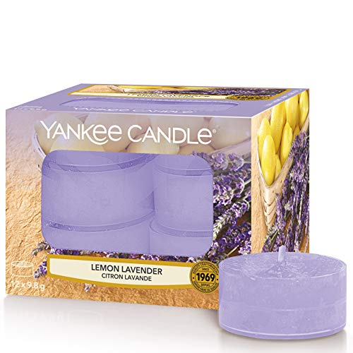 Yankee Candle Tea Light Scented Candles | Lemon Lavender | 12 Count
