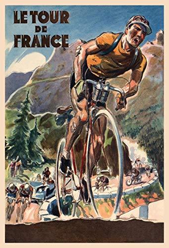 Schatzmix Vélo Le Tour de France Plaque en métal décorative murale 20 x 30 cm