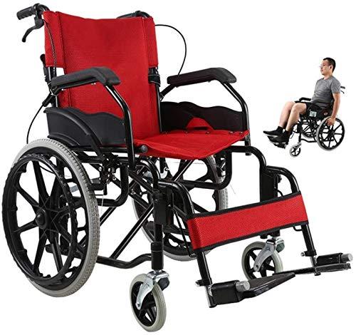 GJNVBDZSF Faltbarer Rollstuhl, ältere behinderte Kinder mit klappbaren Rollstühlen, ultraleichte Rollstühle, behinderte Rollstühle, manuelle tragbare Rollstühle