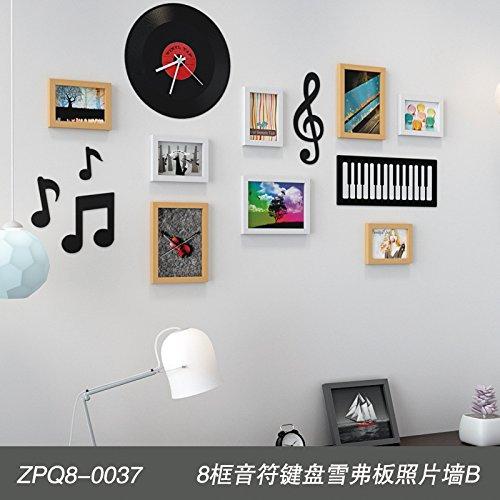 Fotolijst* Euro-bankbiljetten toetsenbord Foto wand decoratie woonkamer muur foto lijst creatieve combinatie van eenvoud en 8 muur box geaccentueerd toetsenbord foto wand B