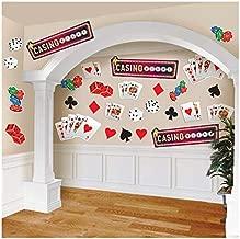 Assorted Casino Cutout Decoration Multicolor