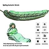 XYQCPJ Elastischer Schlafsack mit Hängematte, ultraleichte hängende Schaukel, tragbare Hängematte mit Tasche, Campinghängematte, Gartenbalkonterrasse (ohne Hängematte)