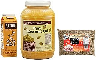 Coconut Popcorn Popping Oil (Gallon) -White Popcorn & Flavacol
