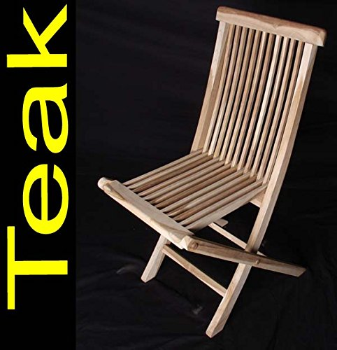 SAM 6er Spar-Set Klappstühle Menorca, Teak-Holz, Gartenstuhl klappbar, für Balkon, Terrasse oder Garten