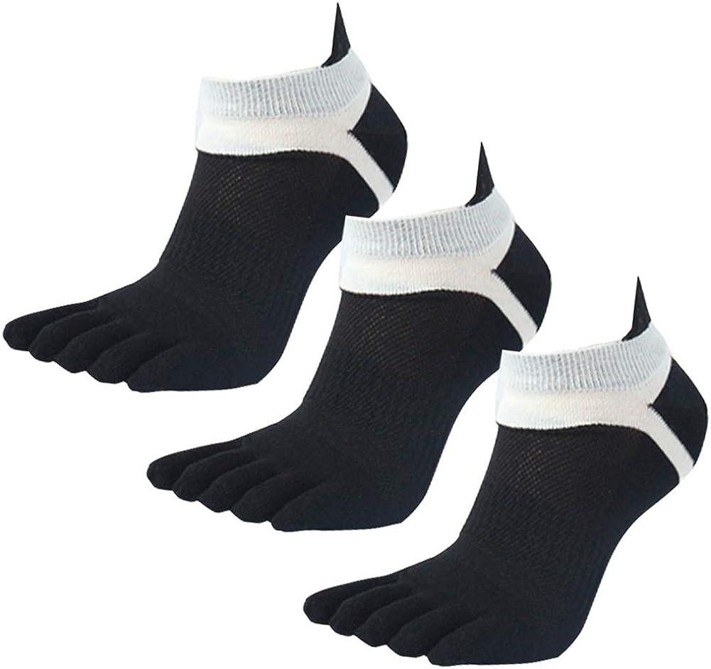 Panegy Pack de Calcetines de 5 Dedos para Hombres para Deportes Sport Cilclismo Running para Vearno Antideslizante y Transpirable Dedos de Pies Separados Algod/ón