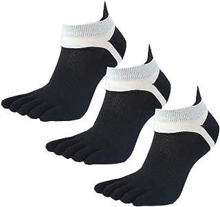 Panegy, Pack de Calcetines de 5 Dedos para Hombres para Deportes Sport Cilclismo Running para Vearno Antideslizante y Transpirable - Dedos de Pies Separados - Algodón