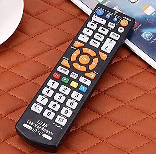Coollooda Simple Mando A Distancia TV 6 Llaves Dvb TV Stb Funda DVD Hi-Fi Puro Enseñanza Negro