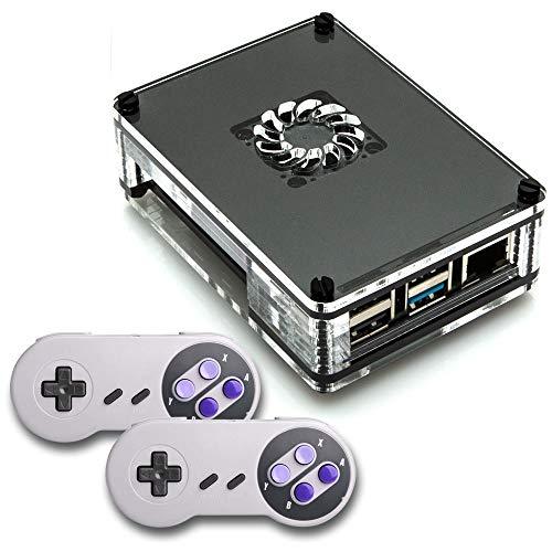 CrispConcept Ultimate Retropie Raspberry 256GB Pi 4 Based Retro Game Console System 50+ Consoles