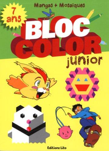 Bloc color junior mangas et mosaiques - Dès 7 ans
