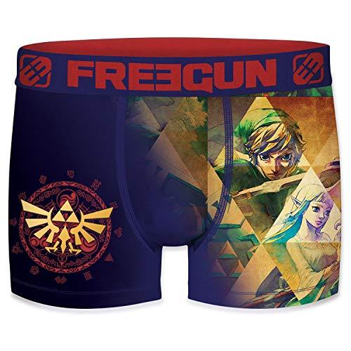 FREEGUN The Legend of Zelda Herren Boxershorts 1er Pack Nintendo Hyrule Link Triforce Meisterschwert Druck ohne Eingriff S M L XL XXL, Größe:M, Farbe:Motiv 2
