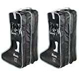 LanHeng Portable 4 Packs,18.5' Tall Boots Short Boots Storage/Protector Bag,Boots Cover (Black)