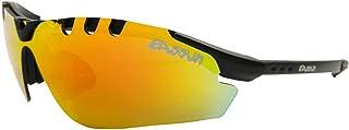 EASSUN Gafas de Running X-Light Sport, Solares Cat 2 o 3, Ultraligeras - Negro Mate, Rojo Fuego, Cat 3