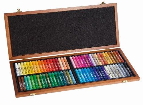 Honsell 47473 - Jaxon Ölpastellkreide, 72er Set im Holzkoffer, brillante, lichtechte Farben, ideal für Künstler, Hobbymaler, Kinder, Schule, Kunstunterricht, frei von Schadstoffen