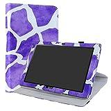 Acer Iconia One 10 B3-A40 rotante Custodia,LiuShan 360 gradi di rotazione custodia in Pelle PU con supporto caso per 10.1' Acer Iconia One 10 B3-A40 Tablet,Zebra Viola