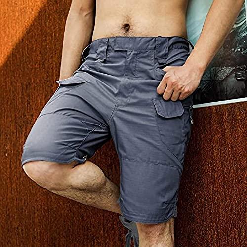 Pantalones Cortos De Hombre Shorts Men Cool Khaki Summer Cotton Casual Men Short Pants Clothing Comfortable XXL Gray
